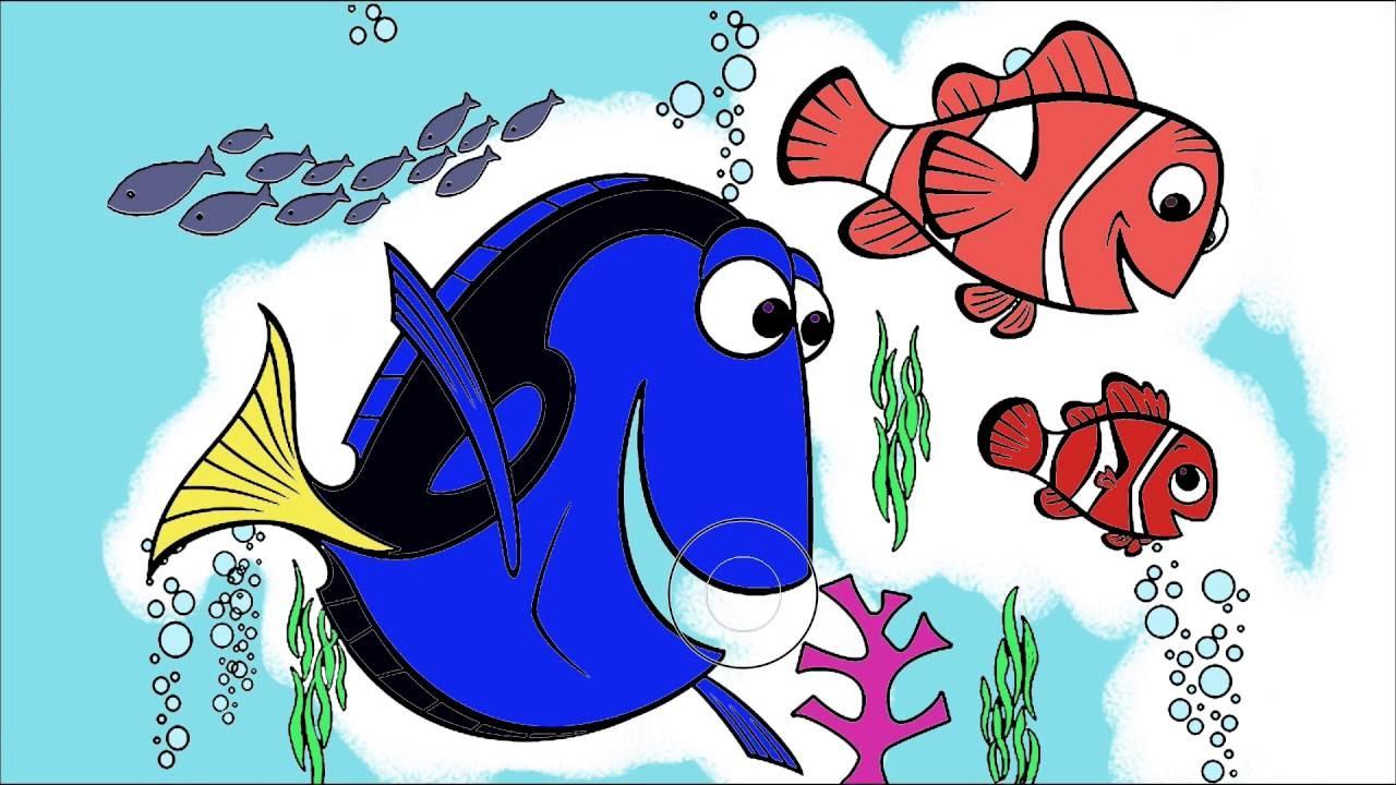 Kayıp Balık Nemo çizgi Film Karakter Boyama Sayfası 3 Minik Eller