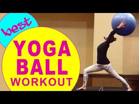 Full Body Yoga Ball Workout Using a Stability Ball | Janis Saffell