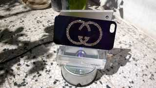 iPhone 5 case made with Swarovski Elements designed in Gucci pattern Thumbnail