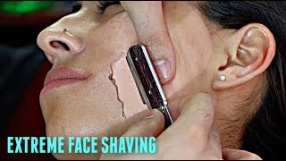 Download SHAVING A LATINA WOMAN'S FACE V.6! *EXTREMELY HAIRY* Straight Razor Tutorial HD! Mp3 and Videos