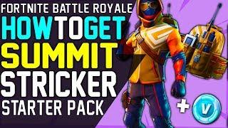 Fortnite How to Get The SUMMIT STRIKER STARTER PACK SKIN SUMMIT STRIKER Outfit Top Notch Backbling