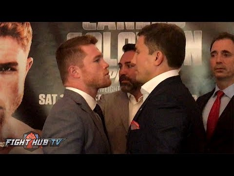 CANELO VS. GOLOVKIN - FULL FACE OFF VIDEO - LONDON, ENGLAND