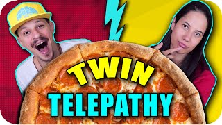TWIN TELEPATHY PIZZA CHALLENGE
