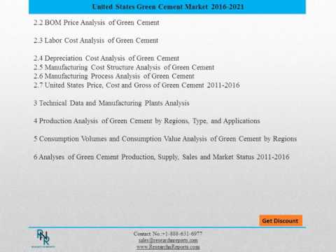 United states green cement  Market Drivers and Challenges Report 2021