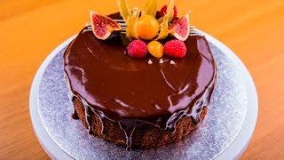 Шоколадный торт без муки и сахара
