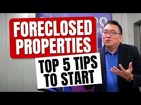 Видео: 5 tips to help you get started with foreclosed properties