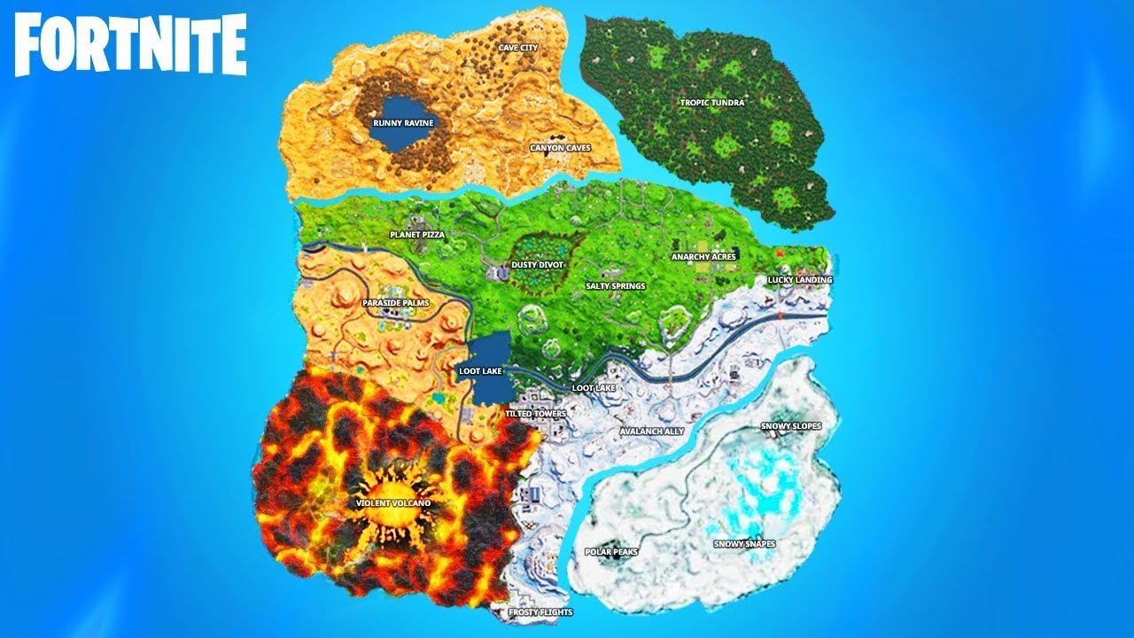 - fortnite map season 8 names