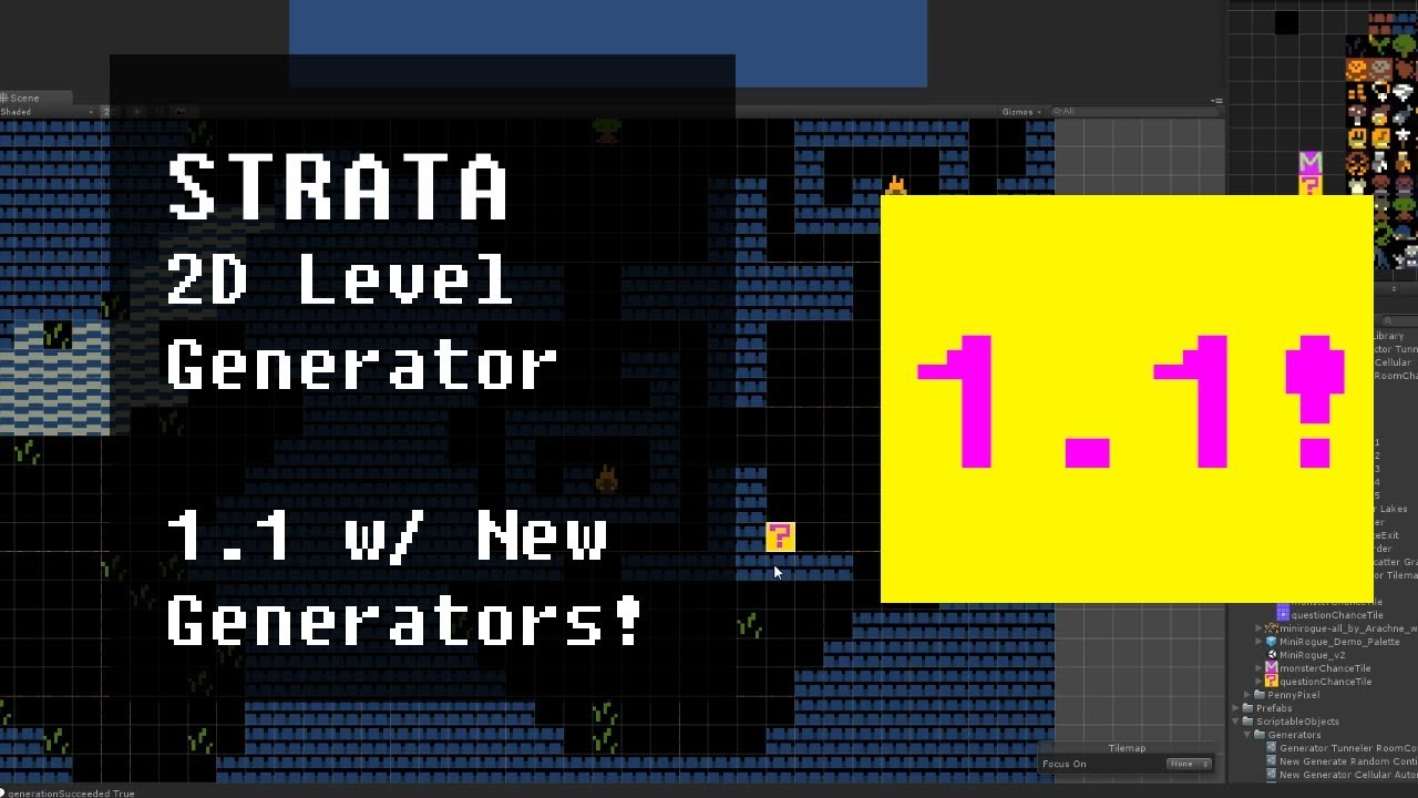 Strata Easy 2D Level Generator For Unity by mattmirrorfish