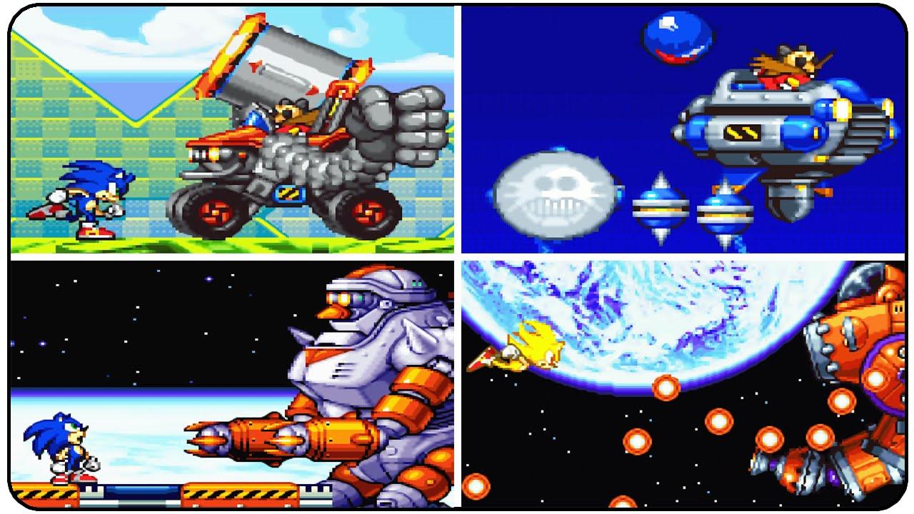 Sonic Advance 2 - All Bosses (No Damage)