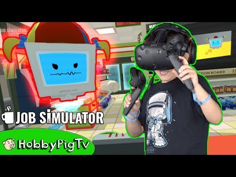 Get Virtual Reality Store Clerk! Job Simulator, Little Girl Gets Mad at HobbyPig? HobbyPigTV Snapshots