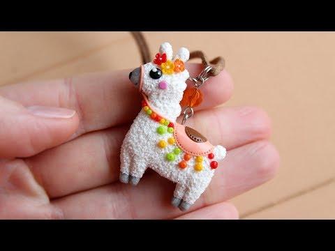 Miniature cute Lama\llama\Alpaca. Made from polymer clay. Tutorial. DIY. Миниатюрная Лама\Альпака