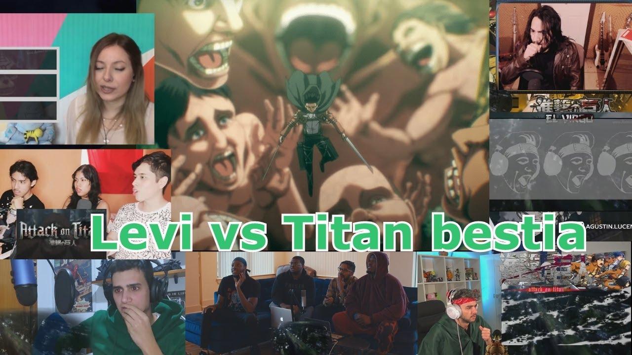 Reacciones: Levi Ackerman vs titan bestia round 2 - T4C14 - Violencia - Attck on titan