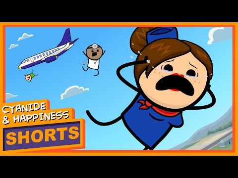 Crash Landing - Cyanide & Happiness Shorts