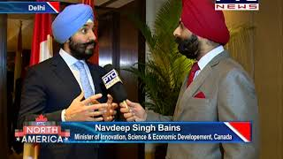 Interaction with Mr Navdeep Bains, Minister of Innovation, Science and Economic Development Canada