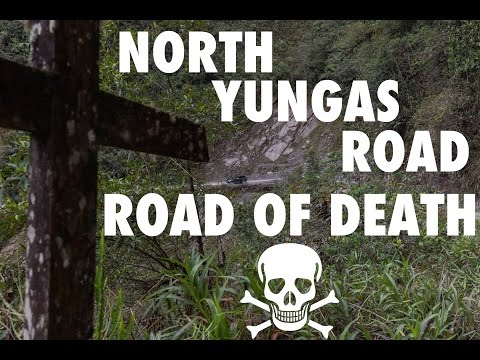 Driving on the Road of Death - North Yungas Road, Bolivia