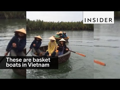 Take a spin on the twirling basket boats of Vietnam