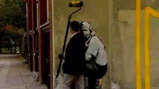 Artist Banksy strikes at London chemist