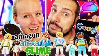 GOOGLE PLAYMOBIL vs. ALEXA PLAYMOBIL SLIME Challenge! Diesmal nur 5 Zutaten um Schleim zu machen!