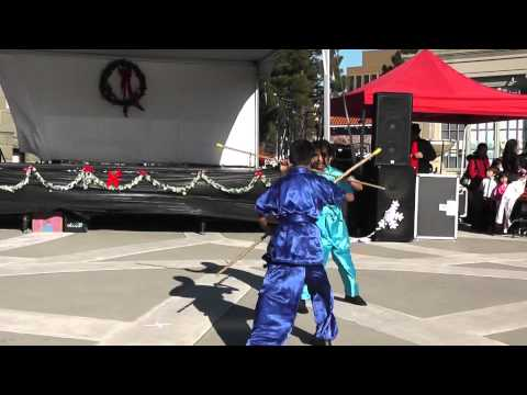 California Kung Fu & Tai Chi Institute Demo - Redwood City Hometown Holidays - December 8, 2013
