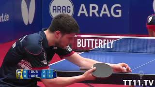 Timo Boll vs Dimitrij Ovtcharov | 1st Final Champions League 2017/2018