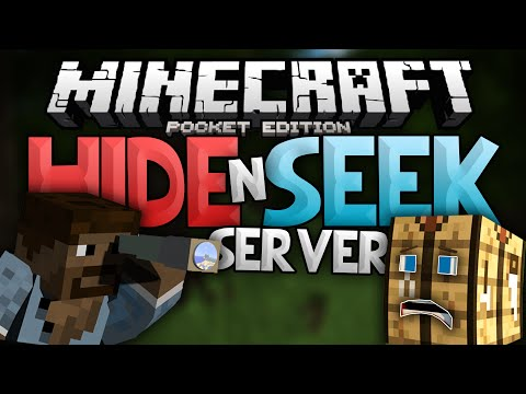 HIDE N' SEEK SERVER!!! - Block Hunt Mini-Game for MCPE - Minecraft Pocket Edition