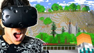MINECRAFT EM REALIDADE VIRTUAL !! - Óculos de Realidade Virtual (HTC Vive Gameplay)
