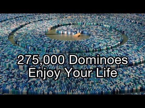 275,000 Dominoes - Enjoy Your Life (Guinness World Record - Most dominoes toppled in a spiral)