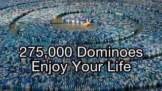 275,000 Dominoes - Enjoy Your Life (Guinness World Record - Most dominoes toppled in a spiral) thumbnail