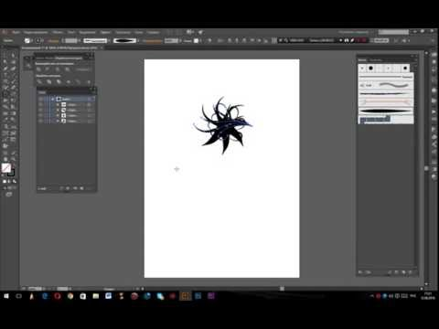 Урок Adobe Illustrator. Инструмент поворот и зеркальное отражение.