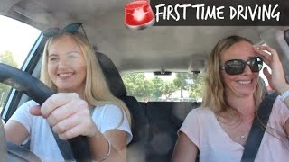 FIRST TIME DRIVING VLOG