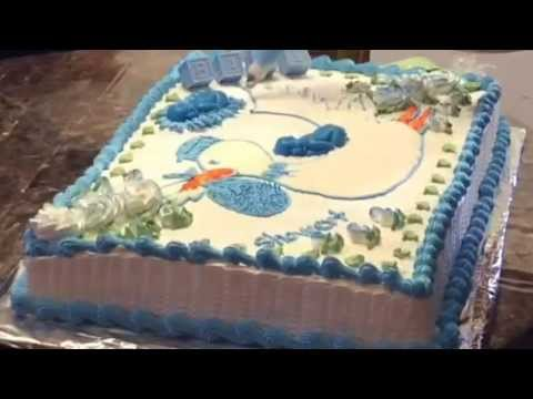 decoracion sencilla pastel de baby shower youtube