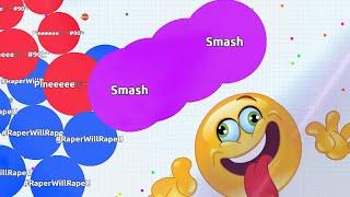 GOING CRAZY !! - UNSTOPPABLE SOLO AGARIO GAMEPLAYS | Agar.io