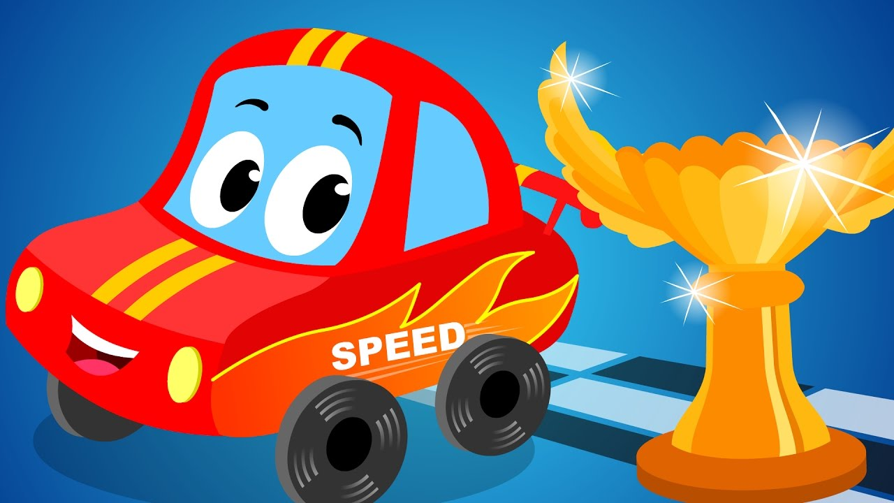 Little Red Car | I Am Sports Car | Kids Song   YouTube