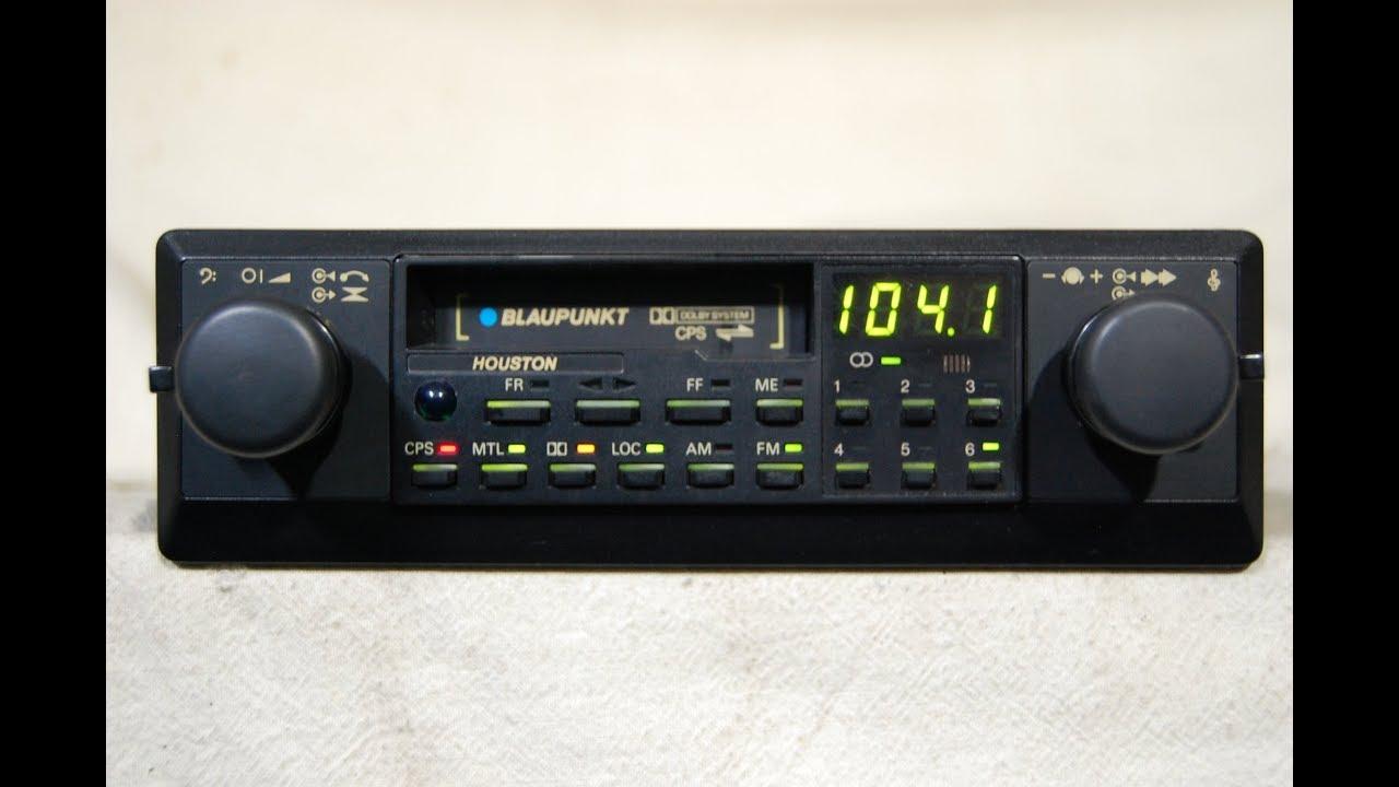 Vintage Blaupunkt Houston AM/FM cassette car stereo