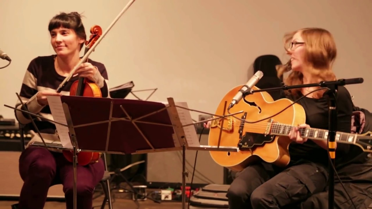 Mary Halvorson & Jessica Pavone - at the Dither Extravaganza 2012 - Invisible Dog, Brooklyn