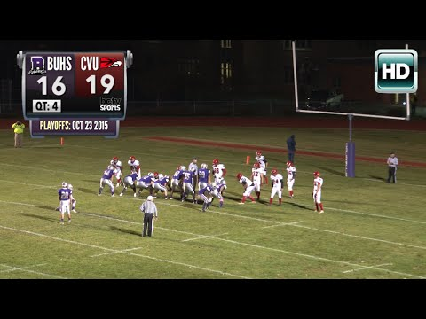 Colonels Football: BUHS vs CVU Playoff - 10/23/2015