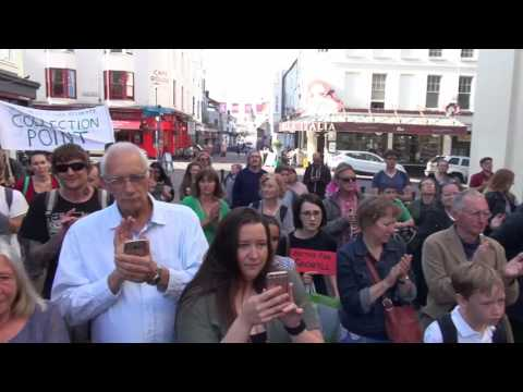 Brighton march In Solidarity with Grenfell  Tower Victims 16/6/2017 Truthferretfilms