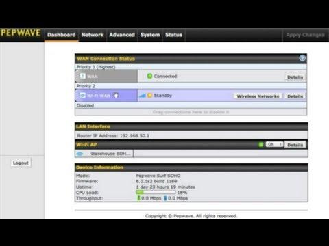 Pepwave Surf SOHO - User Interface Overview