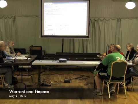 Warrant and Finance - 05-21-2013