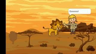 Анна и её лев Джек Пустыня 2008 года Рисуем мультфильмы 2