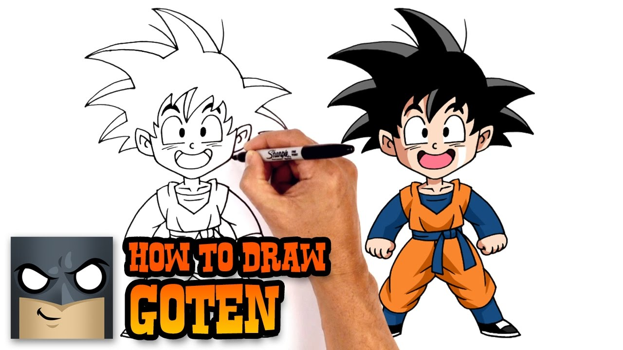 how to draw goten dragon ball z youtube