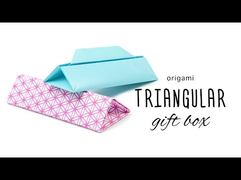 Origami Prism Box with Handle Tutorial - Paper Kawaii