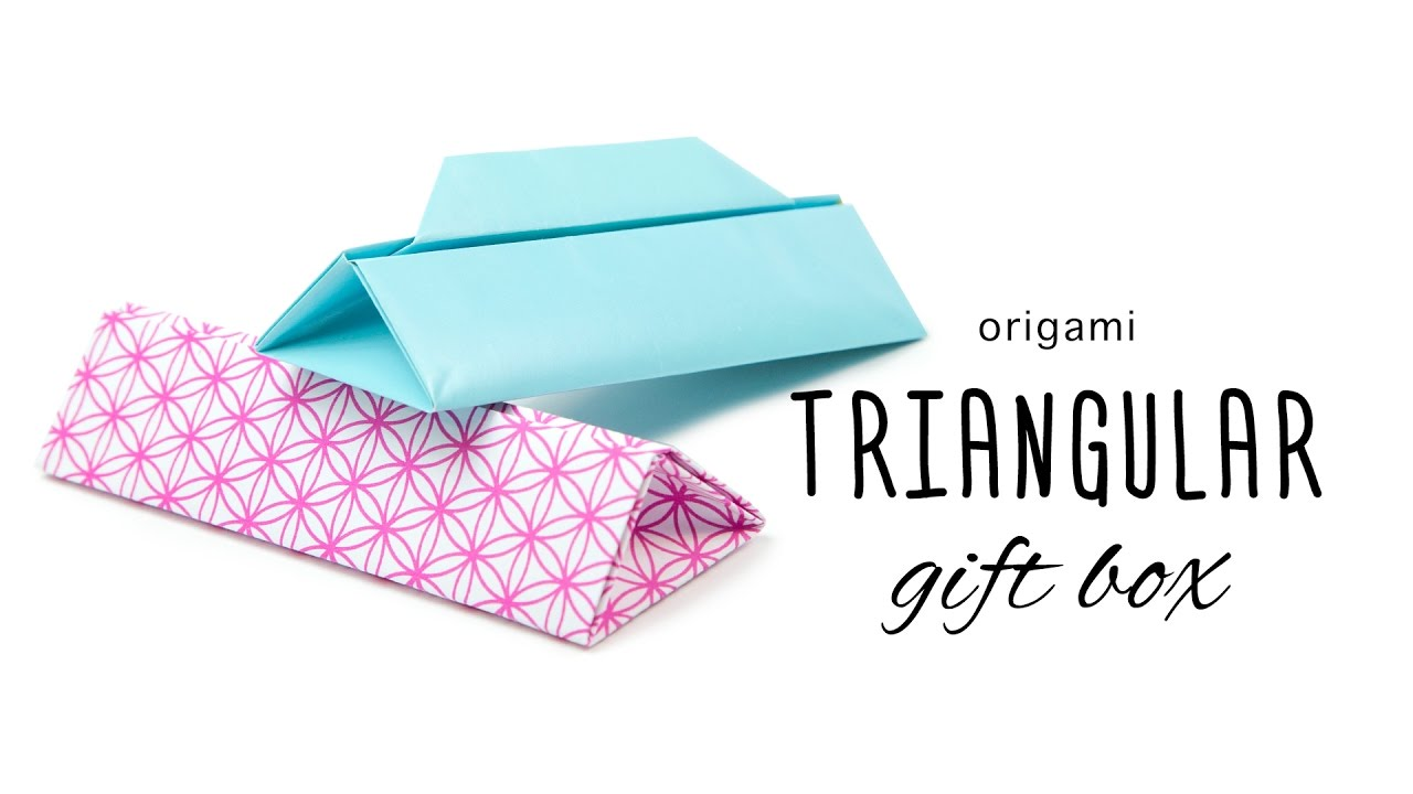 Long triangular origami gift box with handle paper kawaii youtube sciox Gallery