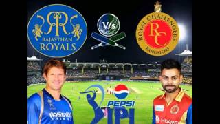 ipl cricket 2015 rajasthan royals vs royal challengers bangalore live match today