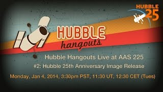 Hubble Hangouts @AAS 225 #2: Hubble 25th Anniversary Image Release