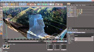 3d bridge tutorial step 4  c4d projection and cam move  4-5