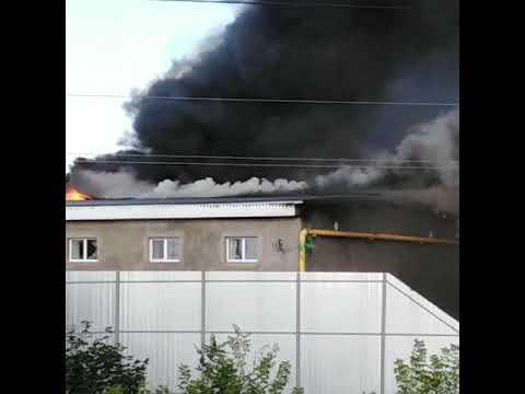 Новоникольское, загорелась пекарня.