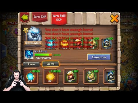 SASQUATCH Double Evolved Augmenting Enchantment Talent Castle Clash