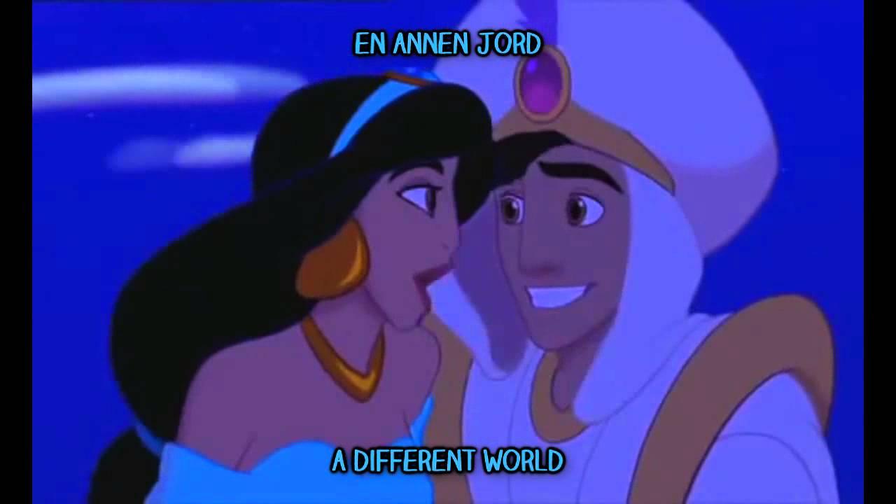 Aladdin - A Whole New World (Norwegian) S&T - YouTube