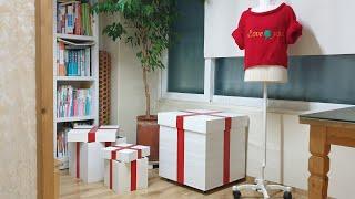 [앙또꼬숑] 옷장정리를 한방에 하는 선물상자형 옷장/서…
